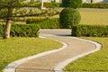 Walkway pathway through the park turn around Stock Image