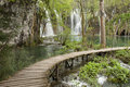 Walkway plitvice park Royalty Free Stock Images