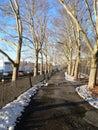 A walkway in Riverside Park Stock Photos