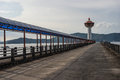 Walkway and road to lighthouse seaside andaman seashore Royalty Free Stock Images
