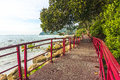 Walkway to beach pedestrian and track Royalty Free Stock Image