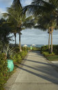 Walkway to beautiful tropical beach Royalty Free Stock Photography