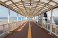 Walkway to harbor with tunnel nobody scene. Royalty Free Stock Photo