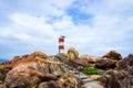Walkway to lighthouse ganh den tuyhoa phuyen vietnamn Stock Images