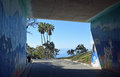 Walkway to Salt Creek Beach Park in Dana Point, California. Royalty Free Stock Photo