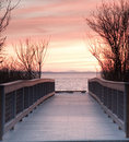Walkway to the Sunset Royalty Free Stock Photo