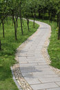 Walkway winding Royalty Free Stock Photo