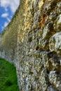 Wall in akkerman fortress at belgorod dnestrovsky ukraine Royalty Free Stock Images