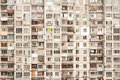Wall of apartment house Royalty Free Stock Photo