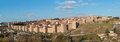 Wall of avila panoramic view the walls Royalty Free Stock Photo