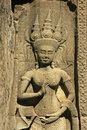 Wall bar-relief, Chau Say Tevoda temple, Angkor area Royalty Free Stock Photos