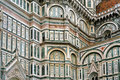 Wall The Basilica di Santa Maria del Fiore Royalty Free Stock Image