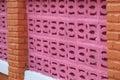 wall block cement bricks vivid color Royalty Free Stock Photo