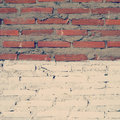 Wall brick background old vintage retro style Stock Photo