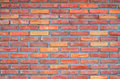 Wall brick red for background Stock Image