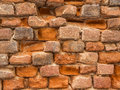 Wall of bricks an ancient house Royalty Free Stock Images