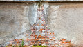 Wall bricks background old coating Royalty Free Stock Photo