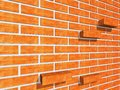 A wall with broken bricks. Royalty Free Stock Photos