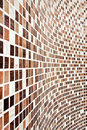 Wall with brown mosaic pattern Royalty Free Stock Photo