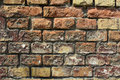 Wall built of brick Royalty Free Stock Photo