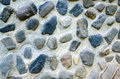 Wall built of natural stone the Stock Photo