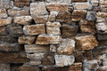 Wall built of rough natural stone Stock Photography