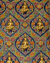 Wall carved colourfull Royalty Free Stock Photo