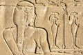 Wall carving, the temple of Edfu, Egypt Royalty Free Stock Photo