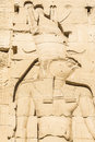 Wall carving, the temple of Isis from Philae, Egypt Royalty Free Stock Photo