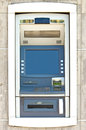 Wall cash dispense close up Royalty Free Stock Images