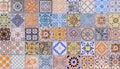 Wall ceramic tiles patterns Mega set Royalty Free Stock Photo