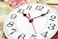 Wall clock and canadian dollars Royalty Free Stock Photo