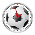 Wall clock football style illustration on white background Stock Image