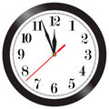 Wall clock illustration Royalty Free Stock Images