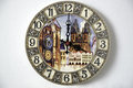 Wall clock with images of landmarks prague Stock Photography