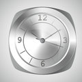 Wall clock isolated vector illustration Royalty Free Stock Photo