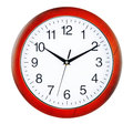 Wall clock isolated on white background Royalty Free Stock Images