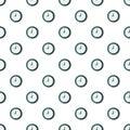 Wall clock pattern seamless