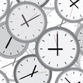 Wall clock. Seamless. Royalty Free Stock Photos