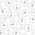 Wall clock. Seamless. Royalty Free Stock Photo