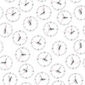Wall clock. Seamless. Royalty Free Stock Photography