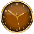 Wall clock. Vector. Royalty Free Stock Photography