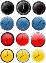 Wall clock vector Royalty Free Stock Image