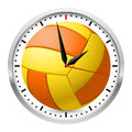 Wall clock volleyball style illustration on white background Stock Images