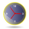 Wall clock on white background Royalty Free Stock Photos