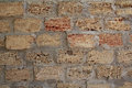 Wall of coarse sand brick Royalty Free Stock Photo