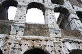 The wall of he colosseum brick and arches in rome italy Stock Image