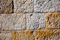 Wall  of concrete blocks Royalty Free Stock Photo