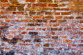 Wall in concrete and bricks. Building background Royalty Free Stock Photo