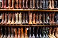 Wall of Cowboy Boots Royalty Free Stock Photo